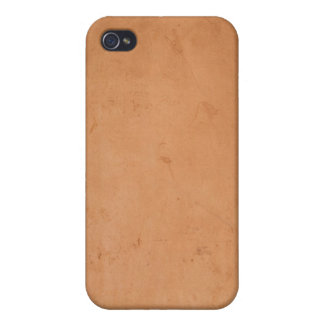 Vintage 1800s Brown Book Leather Tan Background iPhone 4 Cover