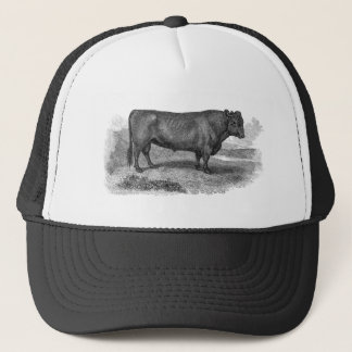 Vintage 1800s Bull Illustration Retro Cow Bulls Trucker Hat