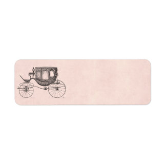 Vintage 1800s Carriage Horse-Drawn Antique Buggy Return Address Label