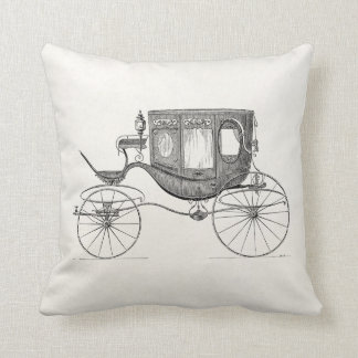 Vintage 1800s Carriage Horse Drawn Buggy Retro Car Throw Cushions