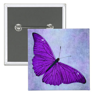 Vintage 1800s Dark Purple Butterfly Illustration 15 Cm Square Badge