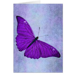 Vintage 1800s Dark Purple Butterfly Illustration Greeting Card