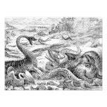 Vintage 1800s Dinosaur Illustration - Dinosaurs Photo