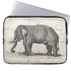 Vintage 1800s Elephant Illustration - Elephants Laptop Sleeve