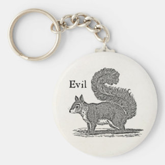 Vintage 1800s Evil Squirrel Illustration Key Ring