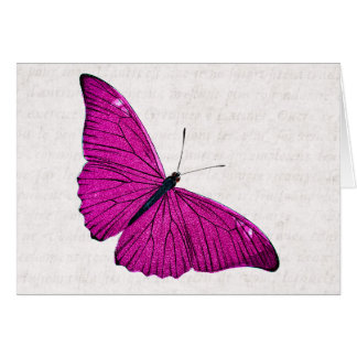 Vintage 1800s Fuchsia Hot Pink Butterfly Template