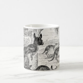 Vintage 1800s Giant Kangaroos Australian Kangaroo Coffee Mug