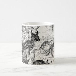 Vintage 1800s Giant Kangaroos Australian Kangaroo Mugs