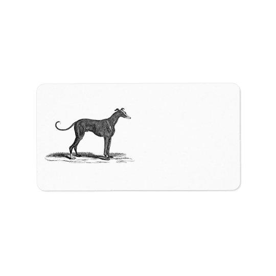 Vintage 1800s Greyhound Dog Illustration - Dogs Label