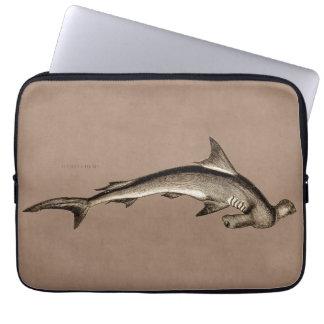 Vintage 1800s Hammerhead Shark Old Hammer Head Laptop Sleeves