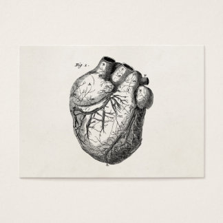 Vintage 1800s Heart Retro Cardiac Anatomy Hearts Business Card