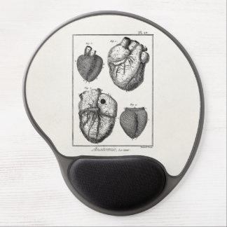 Vintage 1800s Heart Retro Cardiac Anatomy Hearts Gel Mousepad