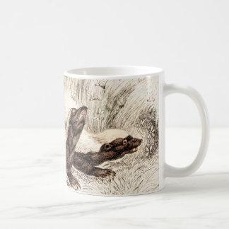 Vintage 1800s Honey Badger Bee Hive Template Retro Coffee Mug