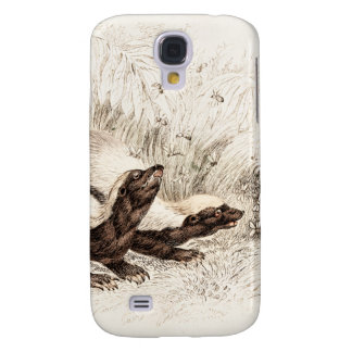 Vintage 1800s Honey Badger Bee Hive Template Retro Samsung Galaxy S4 Cover