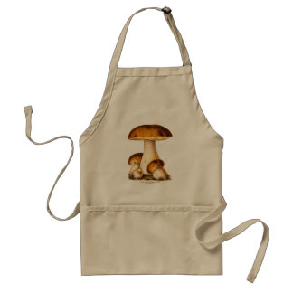Vintage 1800s Mushroom Edible Mushrooms Template Standard Apron