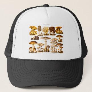 Vintage 1800s Mushroom Variety  Mushrooms Template Trucker Hat