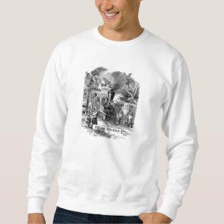 Vintage 1800s Panama Canal Railroad Train Template Sweatshirt