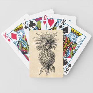 Vintage 1800s Pineapple Illustration Pineapples Bicycle Playing Cards
