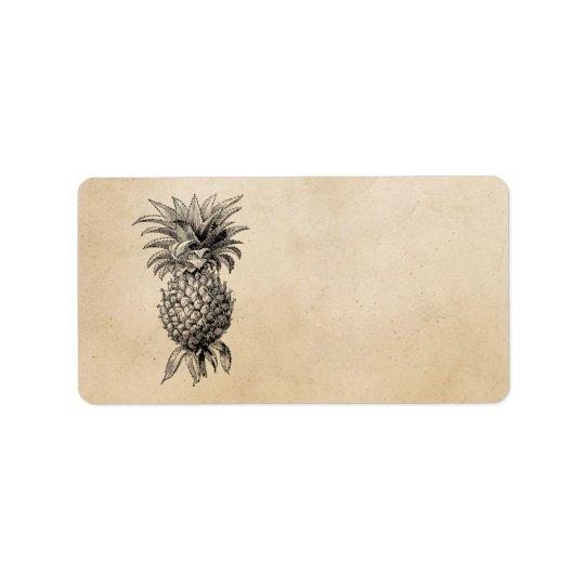 Vintage 1800s Pineapple Illustration Pineapples Label