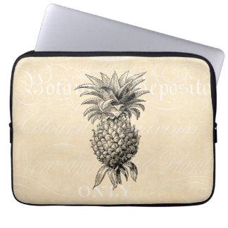 Vintage 1800s Pineapple Illustration Pineapples Laptop Sleeve