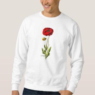 Vintage 1800s Red Poppy Wild Flower Floral Opium Sweatshirt