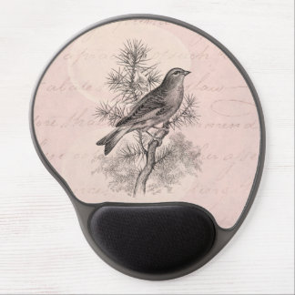 Vintage 1800s Rose Linnet Song Bird Finch Birds Gel Mouse Pad