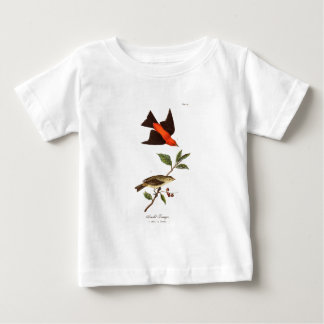 Vintage 1800s Scarlet Tanager Bird Songbird Birds Baby T-Shirt