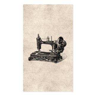 Vintage 1800s Sewing Machine Illustration Business Cards