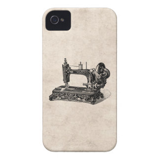 Vintage 1800s Sewing Machine Illustration iPhone 4 Case-Mate Cases