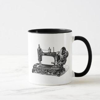 Vintage 1800s Sewing Machine Illustration Mug