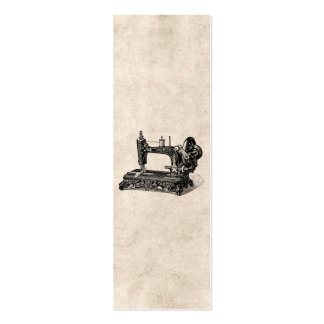 Vintage 1800s Sewing Machine Illustration Pack Of Skinny Business Cards