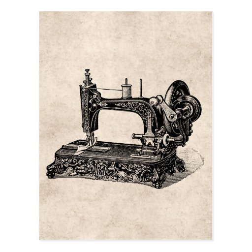 Vintage 1800s Sewing Machine Illustration Post Cards