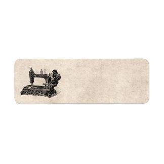 Vintage 1800s Sewing Machine Illustration Return Address Label