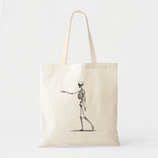 Vintage 1800s Skeleton Antique Anatomy Skeletons Budget Tote Bag