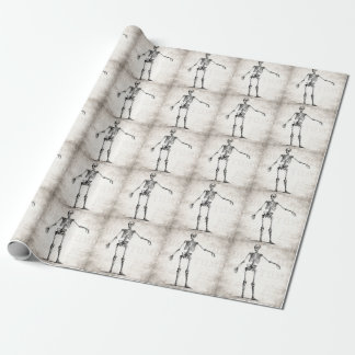 Vintage 1800s Skeleton Retro Skeletons Anatomy Wrapping Paper