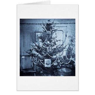 Vintage 1800s Stereoview Christmas Tree Card