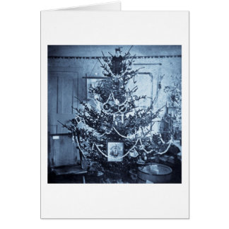 Vintage 1800s Stereoview Christmas Tree Greeting Card