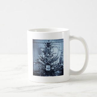 Vintage 1800s Stereoview Christmas Tree Basic White Mug