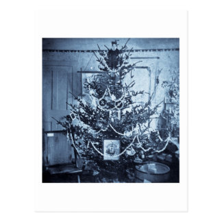 Vintage 1800s Stereoview Christmas Tree Postcard