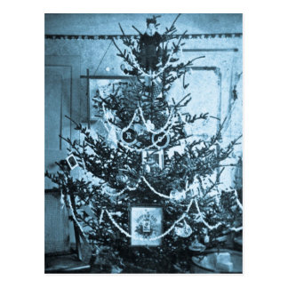 Vintage 1800s Stereoview Christmas Tree Postcard