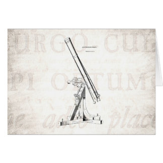 Vintage 1800s Telescope Antique Astronomy Template Card