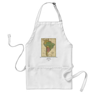 Vintage 1826 South America Map by Anthony Finley Standard Apron