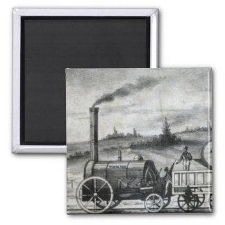 Vintage 1831 Rail Train Bookmark Square Magnet