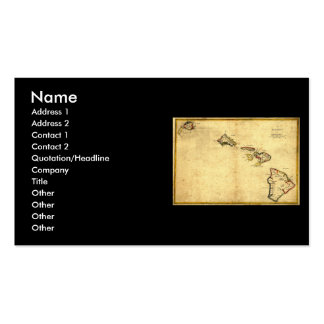 Vintage 1837 Hawaii Map -  Hawaiian Islands Double-Sided Standard Business Cards (Pack Of 100)