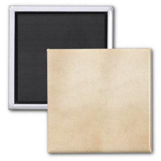 Vintage 1850 Parchment Paper Template Blank Square Magnet