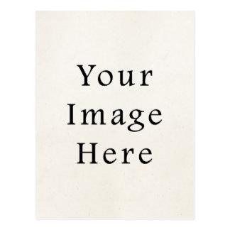 Vintage 1850s White Parchment Paper Background Postcard