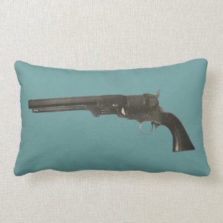 Vintage 1860s Colt Firearms Revolver Gun Pillow