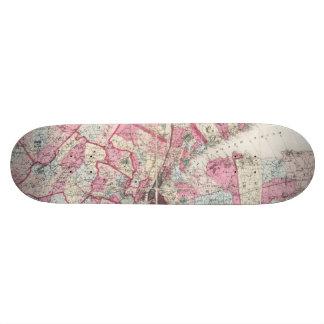 Vintage 1868 Map of New York Skate Board Decks