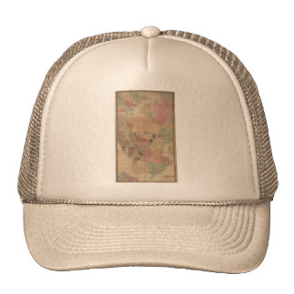 Vintage 1872 Brooklyn Map - New York City, Queens Trucker Hat