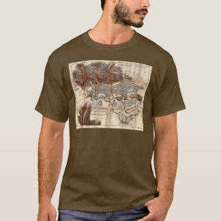 Vintage 1879 Lower Saranac Lake Reconnaissance Map T-Shirt
